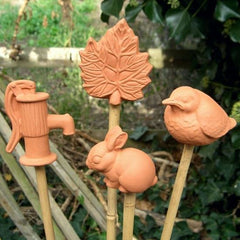 Mixed Terracotta Cane Toppers - 4