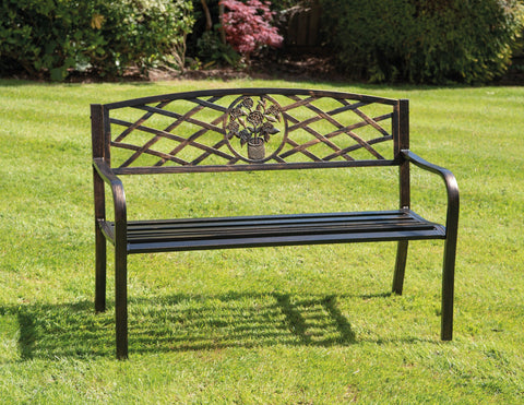 Greenhurst Coalbrookdale Garden Bench - Antique Bronze