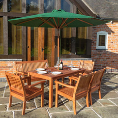 Rowlinson Willington Green 2.7m Wooden Parasol
