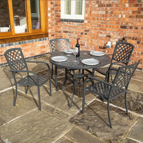 Heritage Lattice Four Seater Dining Set