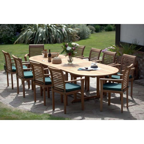 Antibes 10 Seater Teak Garden Furniture Set - Teak Garden Furniture