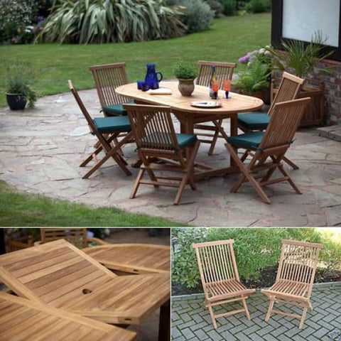 Cannes Outdoor Patio Dining Set - Teak Garden Furniture