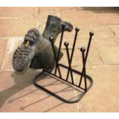 Four Pair Round Boot Rack Stand