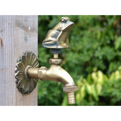 Frog Ornamental Brass Garden Tap