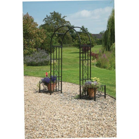Gablemere Huntingdon Ornamental Arch and Planters - Garden Arches
