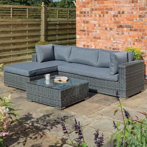 Garden Lover Vienna Lounger Set Grey Weave - All Weather Rattan Garden Furniture