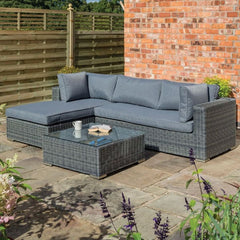 Garden Lover Luxury Lounger Set - Grey Weave