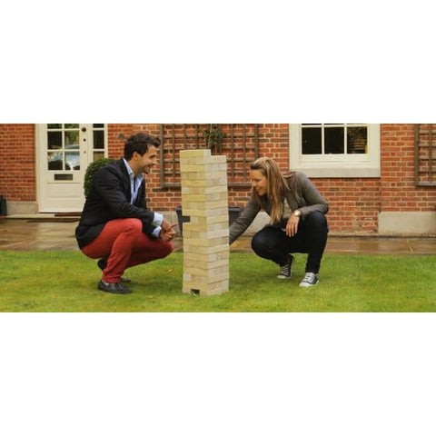 Giant Tumble Tower Pine - Garden Party Games