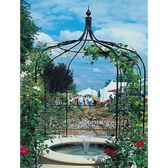 Gothic Gazebo with patio feet & lattice infills