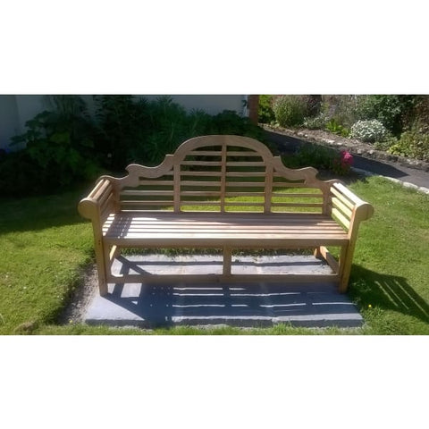 Heritage Solid Teak 4 Seater Lutyens Bench - Garden Benches