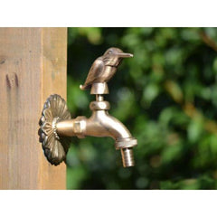 Kingfisher Ornamental Brass Garden Tap