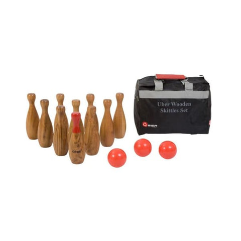 Luxury Wooden Skittles Set - Garden Party Games