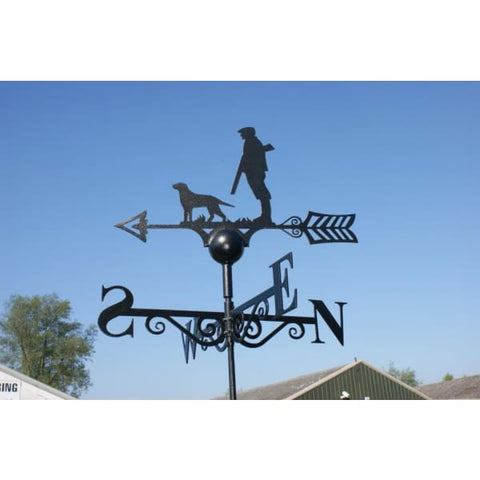 Man and Dog Weathervane - Weather Vane