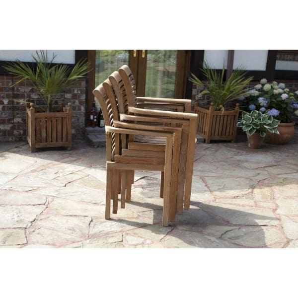 Menton Solid Teak Patio Set Outstanding Value Garden Furniture