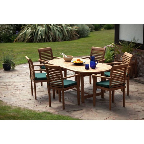 Menton Solid Teak Patio Set - Outstanding Value - Teak Garden Furniture