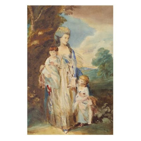 Mrs Moody & Her Children - George Dunlop Leslie R.A. - Riviera Gallery Fine Art Prints