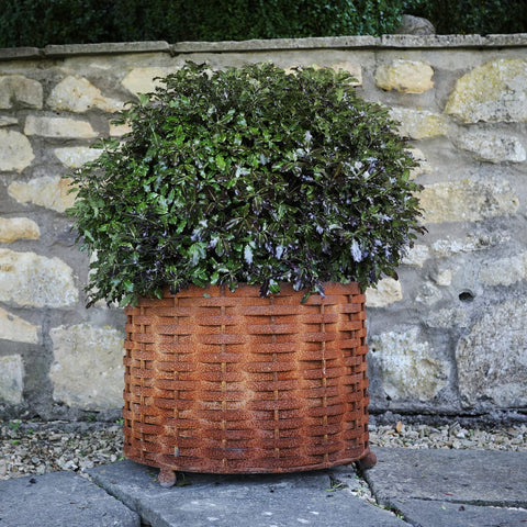Rustic Weave Basket Planter - 3 sizes