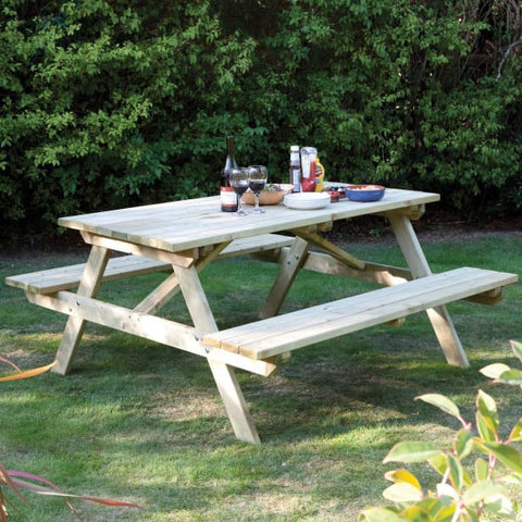 Rowlinson 6ft Picnic Bench - Picnic Tables