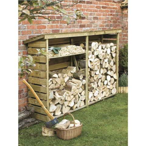 Rowlinson Log Store 2 sizes - Wooden Garden Sheds