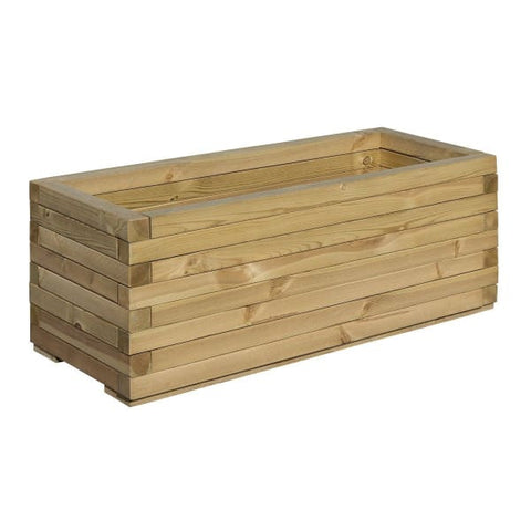 Rowlinson Rectangular Wooden Patio Planter - Garden Planters