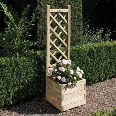 Rowlinson Square Planter & Lattice - Garden Planters