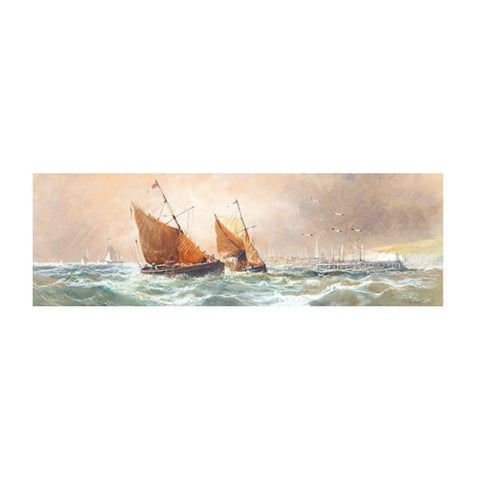 Shipping in a Rough Swell - T B Hardy RBA (1842-97) - Riviera Gallery Fine Art Prints