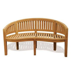 Solid Teak Banana Bench