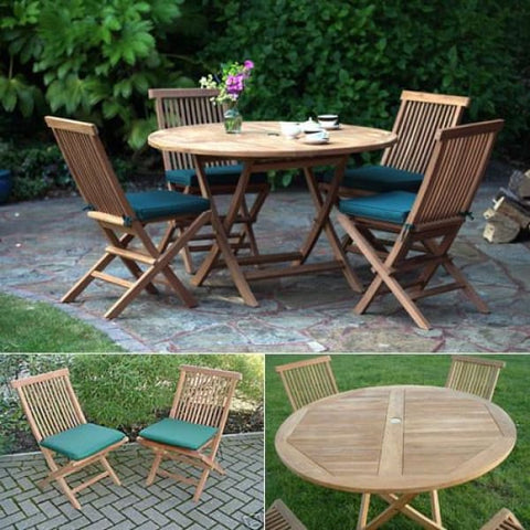 Solid Teak Biarritz Patio Set - Teak Garden Furniture