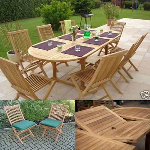 Solid Teak Bordeaux Patio Dining Set - Teak Garden Furniture