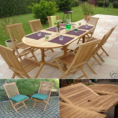 Solid Teak Bordeaux Patio Dining Set
