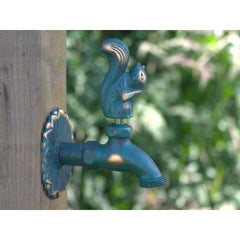 Squirrel Ornamental Verdigris Garden Tap