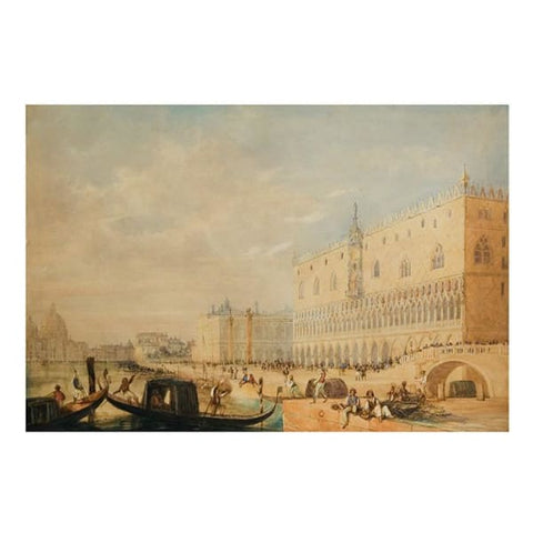 The Doges Palace circa 1860 - Unknown Artist - Riviera Gallery Fine Art Prints
