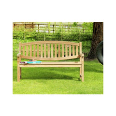 Winchester Double Oval Back Teak Garden Bench 150cm