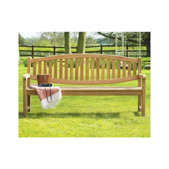 Winchester Double Oval Back Teak Garden Bench 180cm