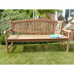 Windsor Curved Back Solid Teak Bench