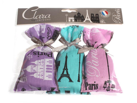 Lavendelbeutel Paris 3-er-Set