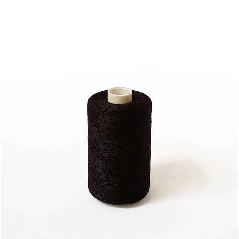 Budget Top Quality Polyester Sewing Thread 40/2 - Black 1000m