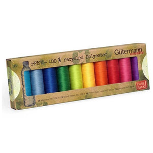 Gutermann Recycled Sewing Thread Set・Sew All - rPET BRIGHT