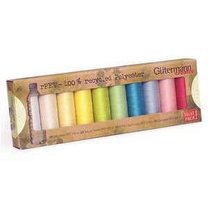 Gutermann Recycled Sewing Thread Set・Sew All - rPET PASTEL