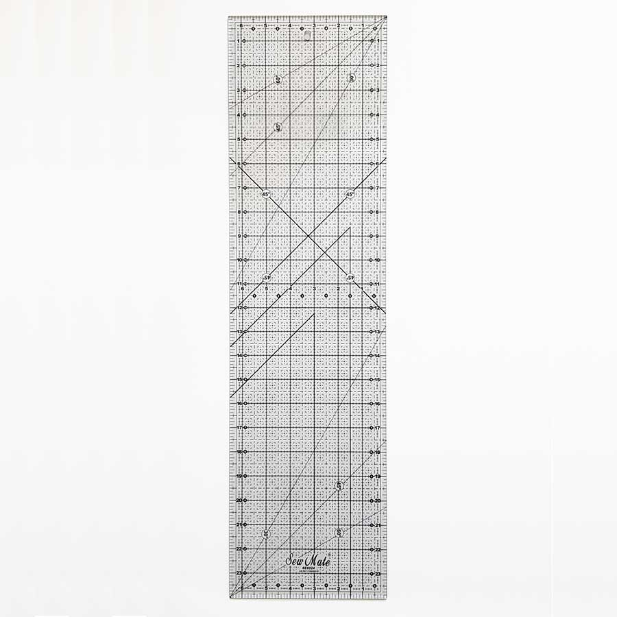 "Acrylic Graph Quilting Ruler 24"" x 6.5"""