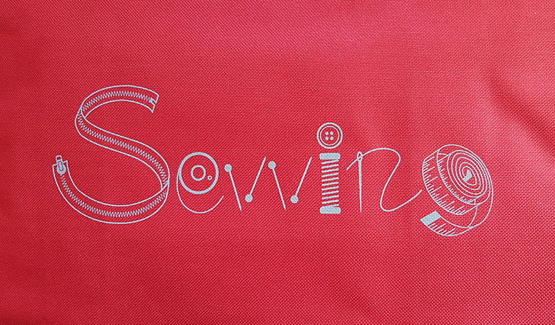 Sewing machine bag - Red Grey