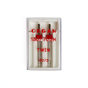 Organ Twin Needle 130/705H Size 80/2.0