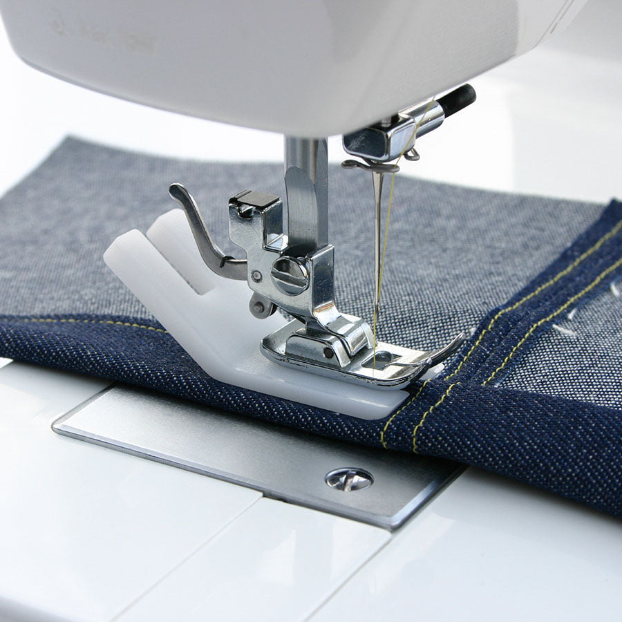 Jeans Support for when sewing over heavy seams