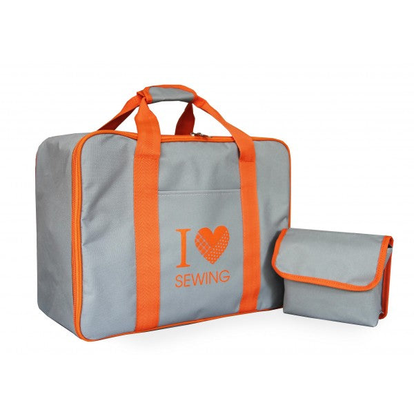 Sewing machine bag - Grey Orange
