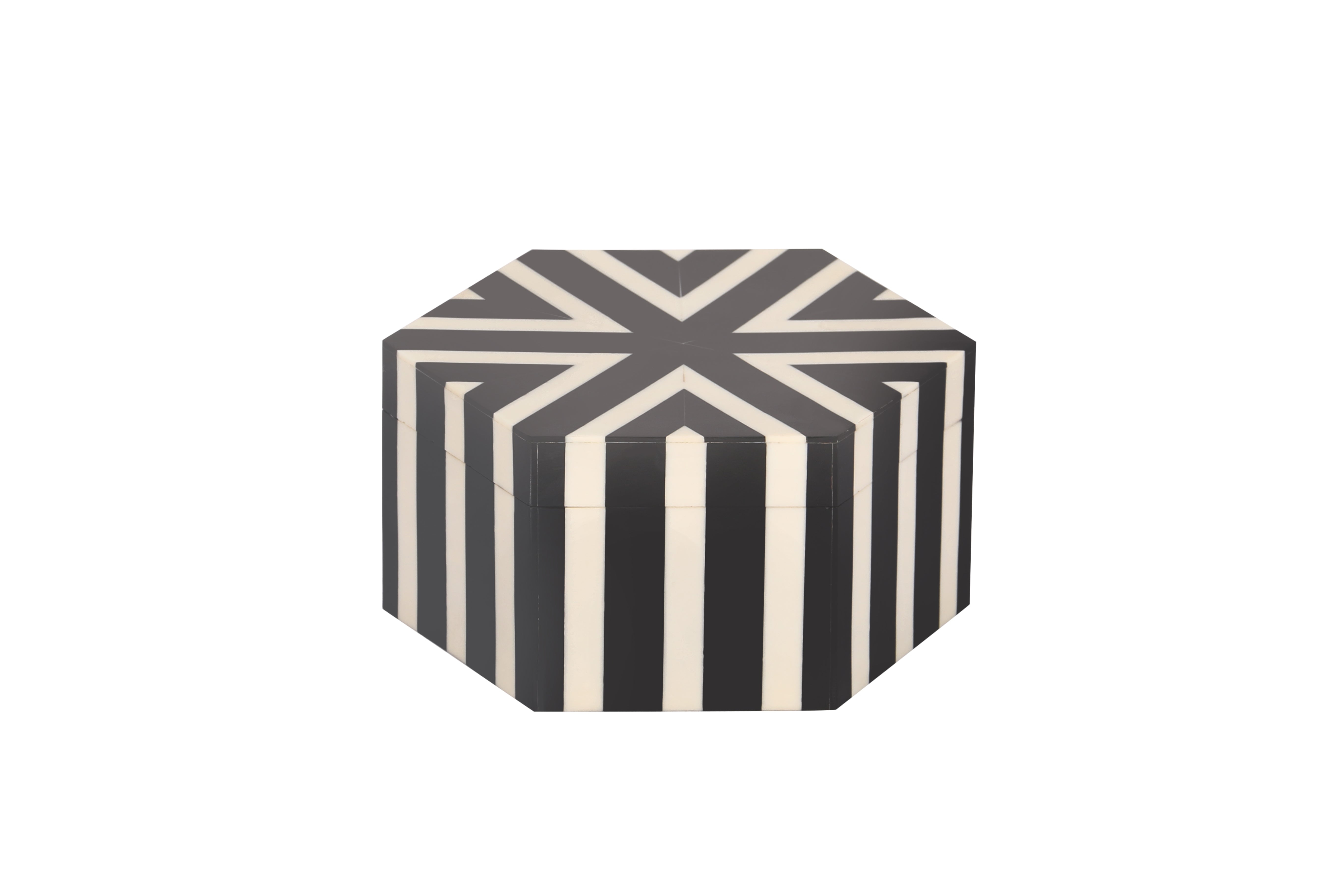 Monochrome Octagonal Resin Inlay Handcrafted Box Set