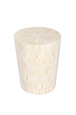 Bone Inlay Handcrafted Side Table