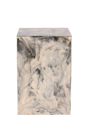 Resin Marblesque Handcrafted Side Table