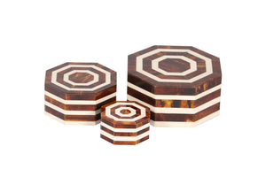 Ivory & Tortoiseshell Coloured Resin Inlay Handcrafted Box Set