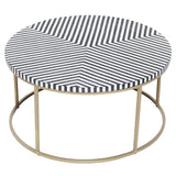 Resin Inlay Black Chevron Coffee Table