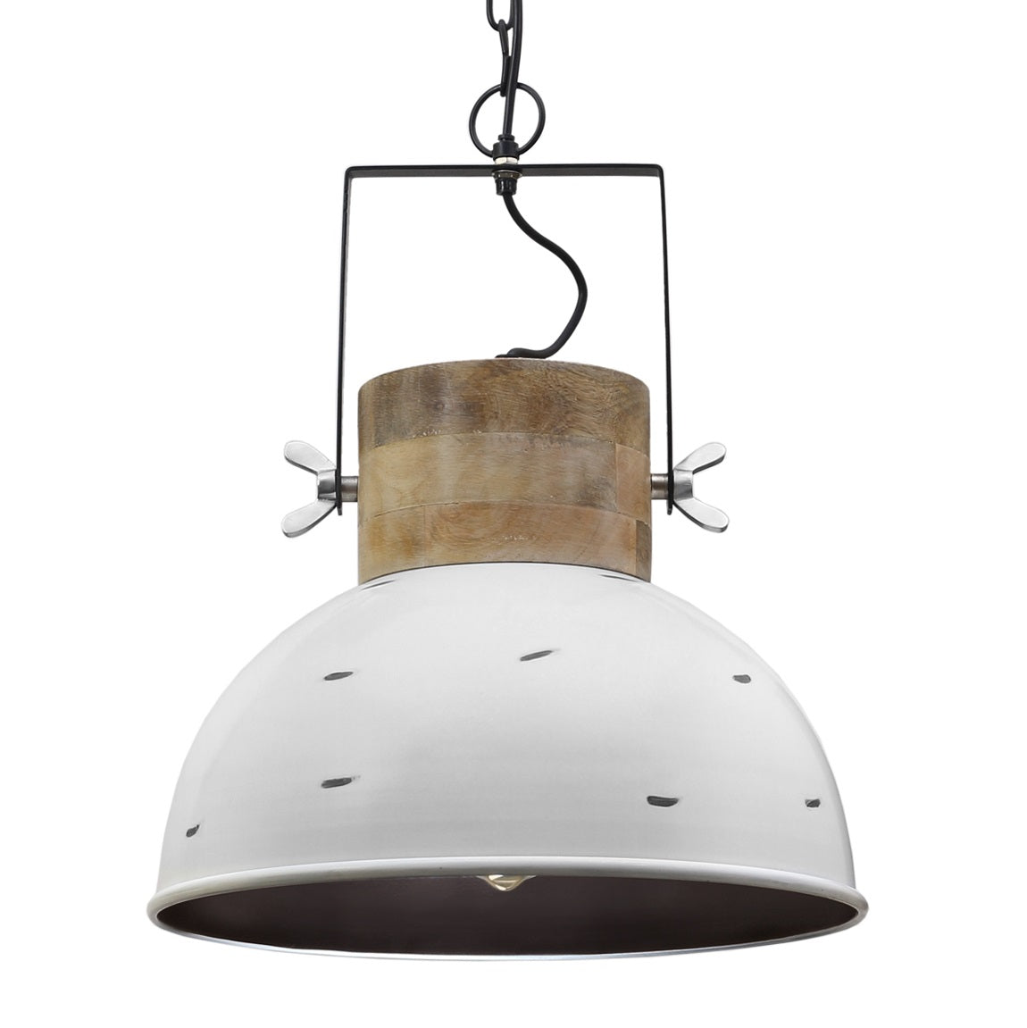 Cantina Handcrafted Wood and Steel Pendant Light
